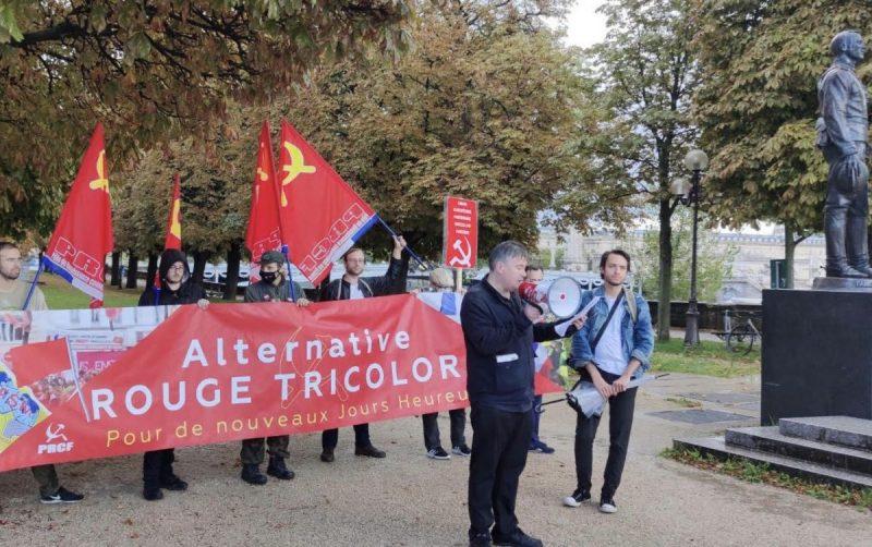 Stop à l'anticommunisme -Soutenons nos camarades allemands du DKP – la vidéo de la manifestation à Paris.