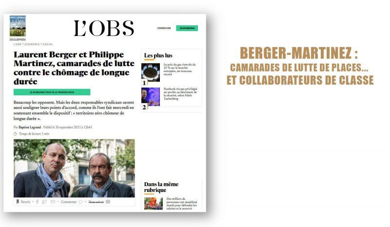 BERGER-MARTINEZ: CAMARADES DE LUTTE DE PLACES… ET COLLABORATEURS DE CLASSE
