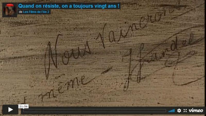 Quand on résiste on a toujours 20 ans : le film hommage pour le 80e anniversaire des fusillés de Châteaubriant