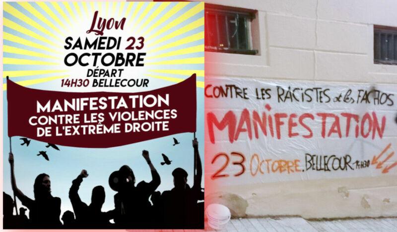 A Lyon, mobilisés contre le fascisme ce 23 octobre #23OctobreLyon #StopExtremeDroite