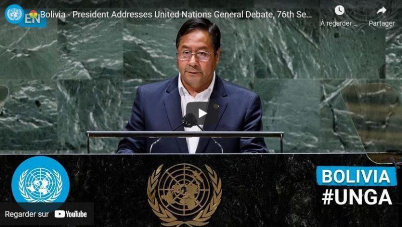 Le discours du président bolivien Luis Arce à l'Assemblée de l'ONU dénonce les coups d'Etat et crimes de l'impérialisme américain.